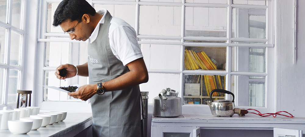 Kaushal Dugar, Founder Teabox testing tea