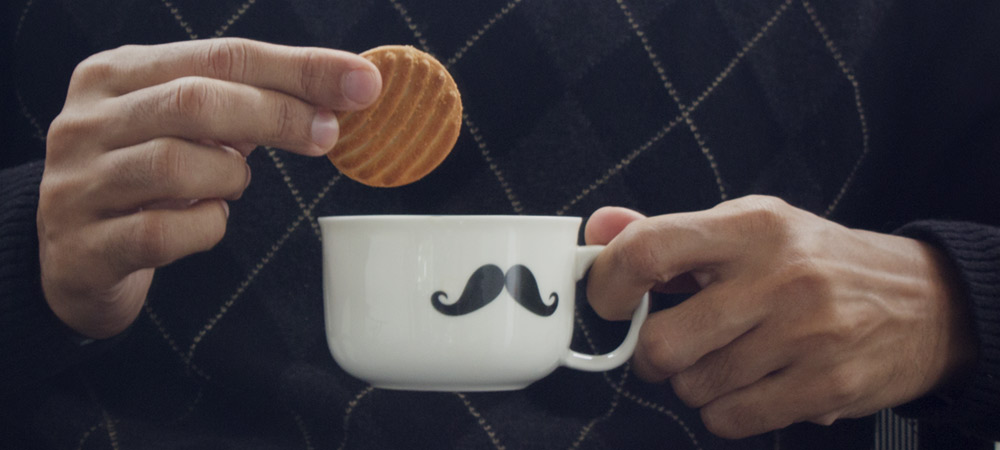 Dunking biscuits in tea