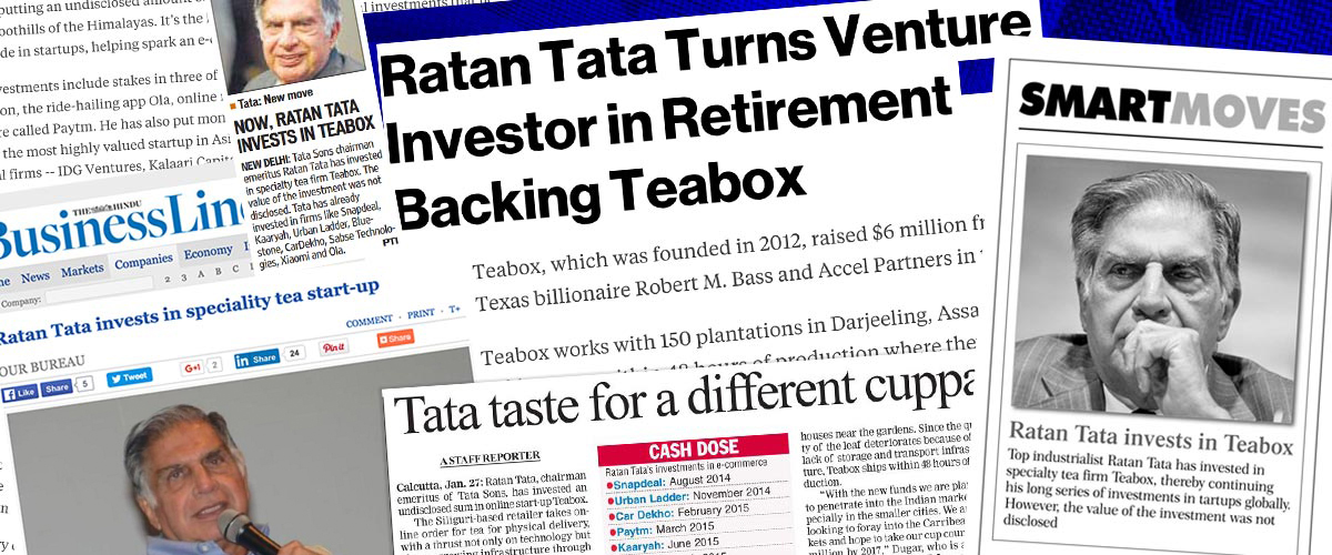 Mr Ratan Tata invests in Teabox