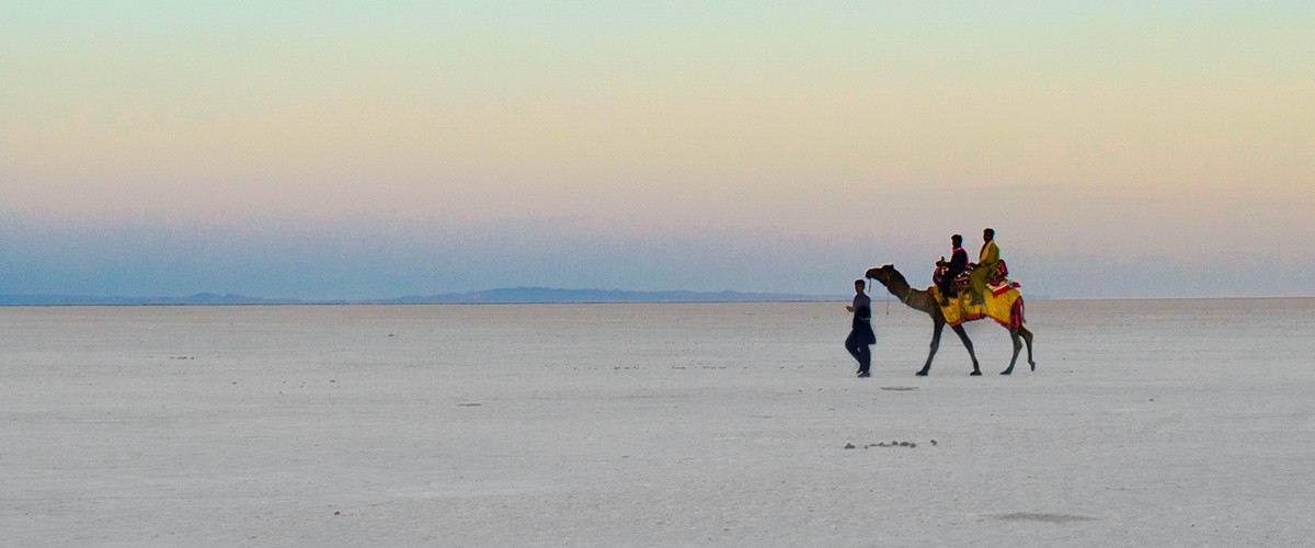 The salt desert of Kutch