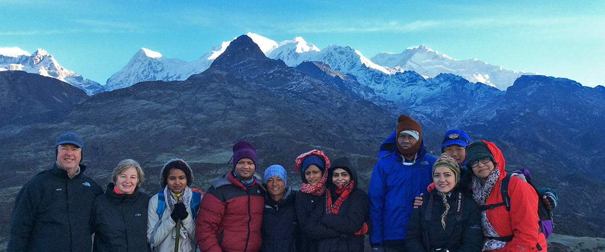 trekkers in the Himalayas